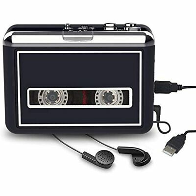 Rybozen Cassette Player Converter, Tapes To Digital MP3 Portable Walkman With