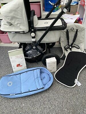 Bugaboo Cameleon3 Complete Stroller, Atelier Special Edition + Ice Blue Extras