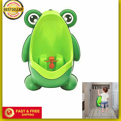 Green Cute Frog Potty Training Urinal For Boys Kids With Funny Aiming Target New