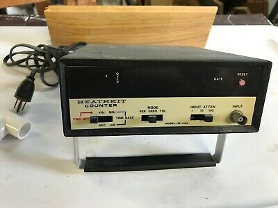 Vintage Heathkit frequency counter, built and used in TV Service by myself.