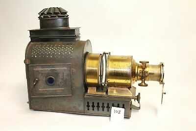 Vintage MAGIC LANTERN SLIDE PROJECTOR BRASS TINPLATE