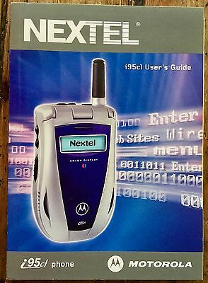 Nextel User's Guide/Manual for a Motorola Phone i95cl