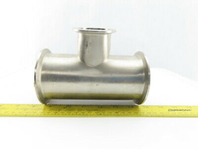 "3"" x 2"" Stainless Steel Sanitary Reducer Tee"