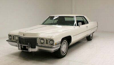 1972 Cadillac Coupe DeVille  Big Cotillion White/Spacious Leather Interior/Massive 472ci V8/Smoooooth Cruiser
