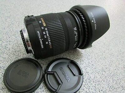 Sigma 18-50mm 1:2.8-4.5 DC OS HSM Optical Stabilizer Lens For- Nikon (BL10)