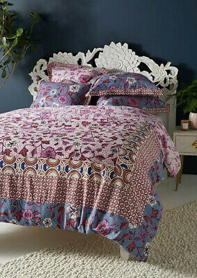 NWT $198 Anthropologie Zola QUEEN Duvet Cover Boho Floral Bedding Comforter