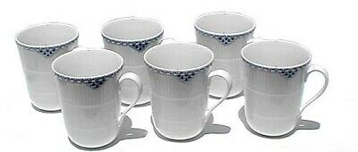 Set of 6 Royal Copenhagen Fluted Half Lace Coffee Cups