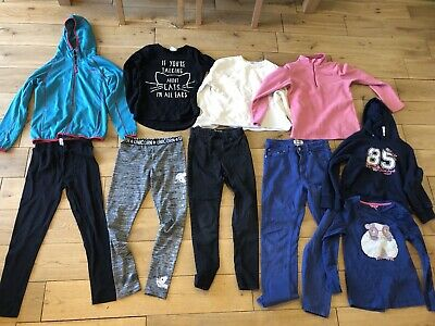 Girls 9-10 Years Bundle River Island Joules TU top Leggings Hoodie Jeans Fleece