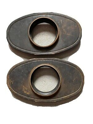 Mopar 1958 Pair Air Cleaner Embase Only, Plymouth Desoto Dodge Chrysler.