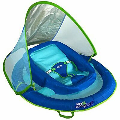 SwimWays Infant Baby Spring Float (Blue)