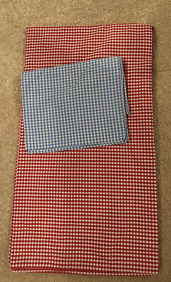 The Little White Company Gingham Red And Blue Check Cot Bedding