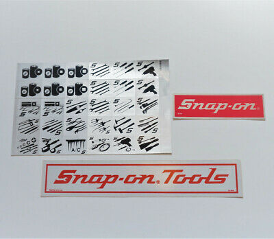 Lot of Snap˗on Tools Vintage Decals – 2 Logo Decals and Tool Drawer Labels NEW