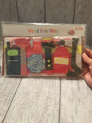 Wood Role Play Set Firefighters Set 3yrs+