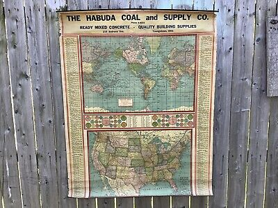 """Vintage Youngstown, World Map """"The Habuda Coal And Supply Company"""""""