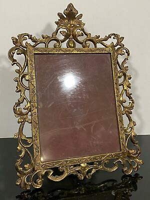 Vintage Gold Gilt Metal Ornate Baroque Neoclassic Picture Photo Frame