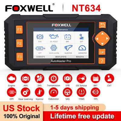 Check Engine ABS Transmission OBD2 Car Diagnostic Tool Auto Reader Foxwell NT634