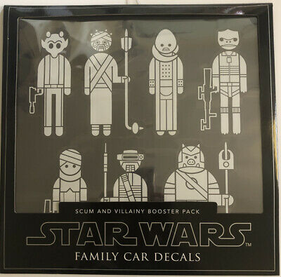 Authentic Star Wars Car/Truck Decals Window Stickers Scum Villainy Booster Pack