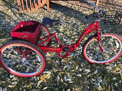 """Kent Monterey Adult Trike - Customized - Red - 7 Speed - 26"""" -PICK UP"""