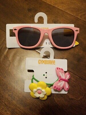 Gymboree Girl Island Lily Sunglasses 4 and up Hair bands set NWT HTF Summer