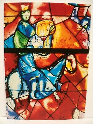 Cpm Rppc Marc Chagall Vitrail Illustr. Du Psaume 150 Detail Chichester Cathedral