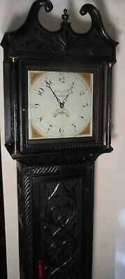 "Antique Carved Oak Case  "" Reading ""  Longcase / Grandfather  Clock"