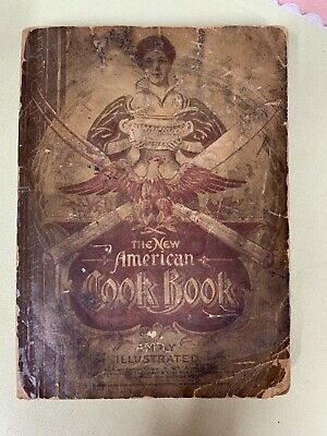 1897 The New American Cook Book, Farm And Fireside Library Illustrated VTG