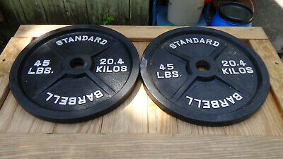 "45 lbs  Olympic Standard 2"" Weight Plate Set"