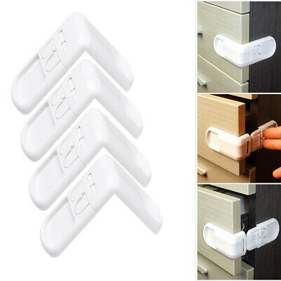 Drawers Wardrobe Door Baby Safety Lock Right Angle Children Protector
