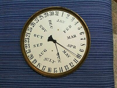 Antique Double Dial Calendar Clock 'Complete B B Lewis Movement, Dial and Hands'