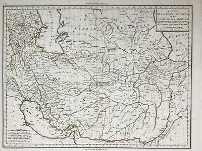 Persia Afghan Empire 1803, Iran Pakistan by Mentelle & Chanlaire antique map
