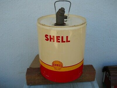 "Shell Oil 5 Gallon Can-Tri-Color-""Shark Tooth Pecten"""