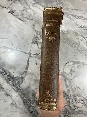 """1869 Antique Book """"Household Reading"""""""