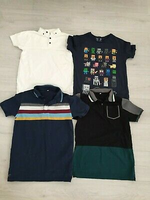 Boys T Shirt Bundle Age 12 13 Years 3 X M&S Inc Minecraft & Polo Tops