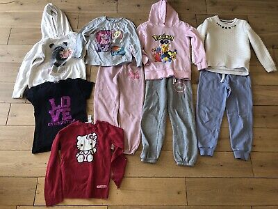 Girls 7-8 Years Bundle Hoodie Jogging Bottoms Joggers T-shirt Next H&M F&F