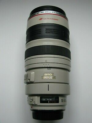 Canon EF 100-400mm f/4.5-5.6L IS USM - End caps - Case - Hood - SN 589686