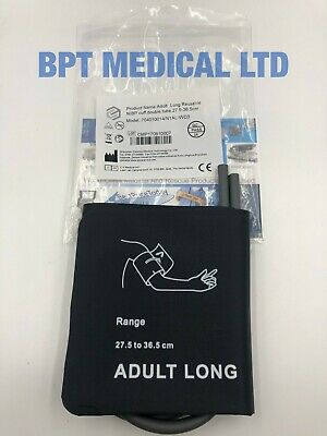 NIBP Adult Long Reusable Blood Pressure Cuff Double Tube 27.5-36.5cm NEW