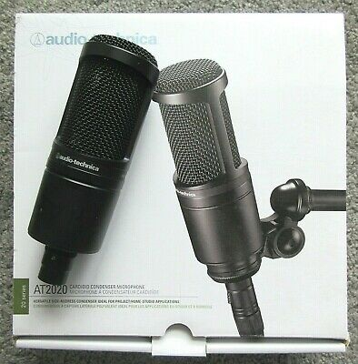 Audio Tech AT2020 Condenser Wired Professional Microphone CARDIOID MINT IN BOX