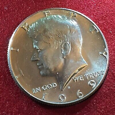 1969 Usa United States Of America - Kennedy Half Dollar - Moneta Argento Silver