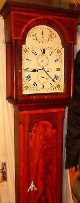 "Antique Superb Mahogany  S/Silent  "" Jersey ""  Longcase / Grandfather  Clock"