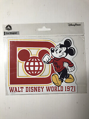 Walt Disney World Parks 1971 Car Magnet Mickey Mouse Varsity BRAND NEW - SEALED