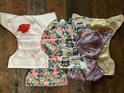 Lot Of 5 Baby Girls Cloth Diaper Covers
