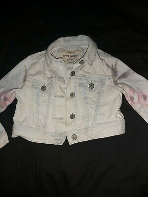 Girls Distressed Denim Jacket, River Island Age 3