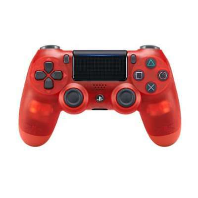 Genuine Sony Playstation DualShock 4 Red Crystal Wireless Controller (CUH-ZCT2U)