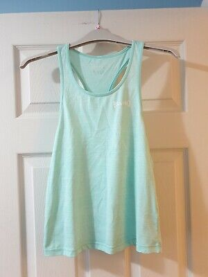 Girls Sports Top Running Vest Age 11-12 Years Usa Pro Mint Green Excellent Cond