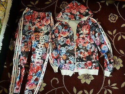 Girls adidas floral tracksuit