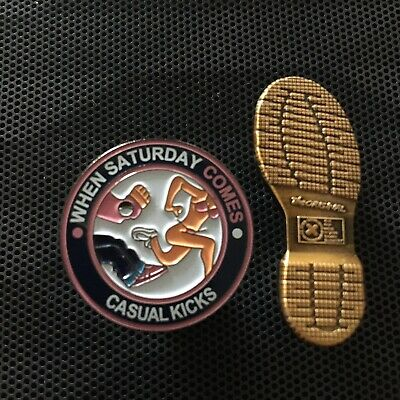Ala A Guy Called Minty Casual Connoisseur Rosso Bianco Nero. Ultras Pin Badges
