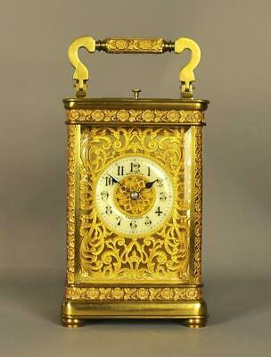 SOLD    Excellent repeating carriage clock      SOLD