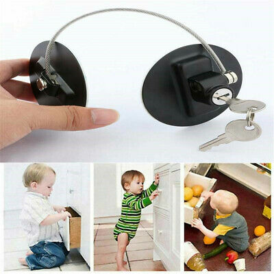 Window Cabinet Lock With-Key Door Stopper Baby Safety Lock Finger Protector