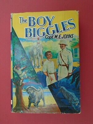 THE BOY BIGGLES by Capt W E JOHNS 1ST EDITION 1968 with D/J VG copy
