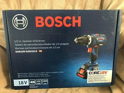 Bosch GSB18V-535CB15 18V 1/2 in. Hammer Drill Driver w/battery, charger & case